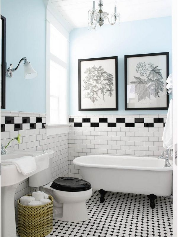 Bathroom Tiles Black And White cool black and white bathroom design ideas | white bathrooms