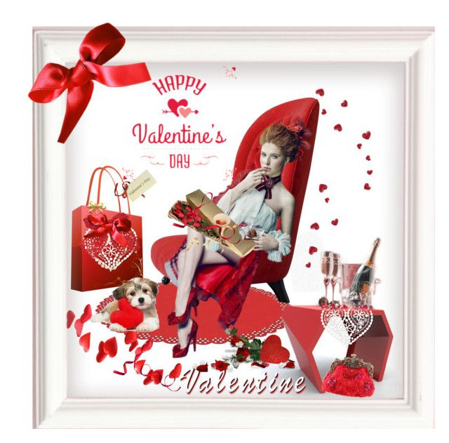 """""""Valentine's Day in my Red High Heels"""" by sherrysrosecottage-1 ❤ liked on Polyvore featuring art"""