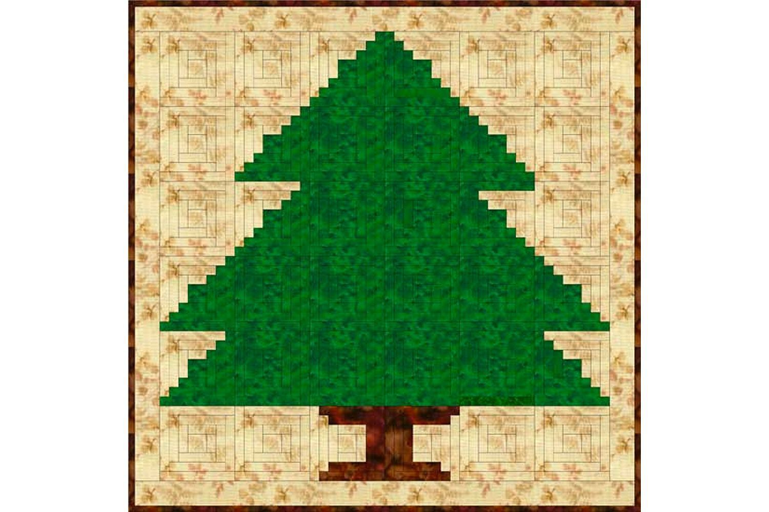 Sew a Christmas Tree Quilt with Log Cabin Quilt Blocks | Christmas ...
