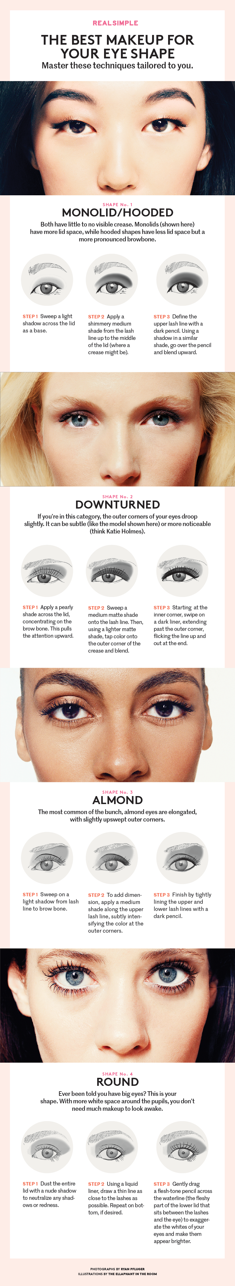 here's the best eye makeup for your eye shape | eye shapes, eye