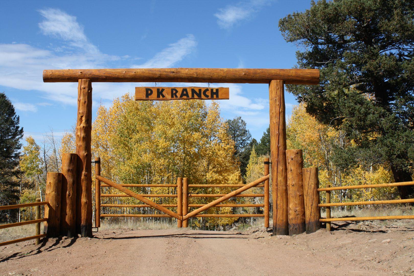 Ridgetop fence company log archway entry way