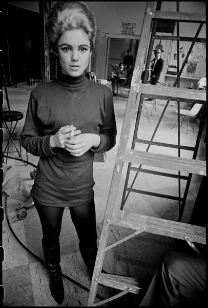 Edie Sedgwick and Andy at David McCabe's studio on 37th St., NYC, spring 1965