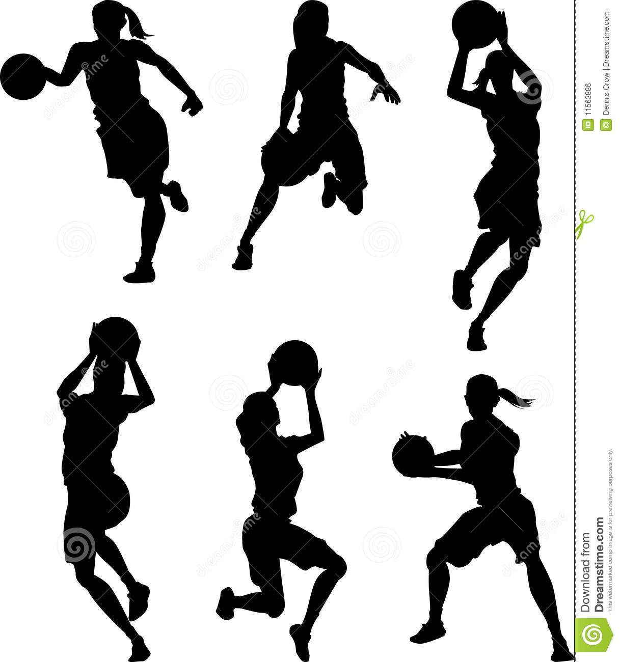 Basketball Female Silhouettes Basketball Silhouette Basketball Girls Basketball Theme
