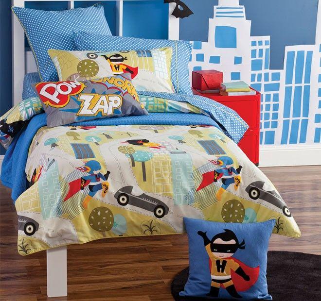 HICCUPS   I Am Super Single Bed Quilt Cover Set #kidsmanchester  #kidsbedlinen #bedlinenonline