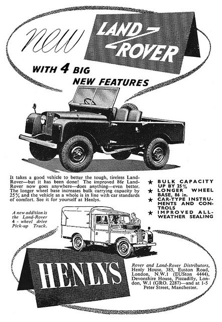 Land Rover ad 1954  For a REAL Land rover... not the present day yuppie mobile....