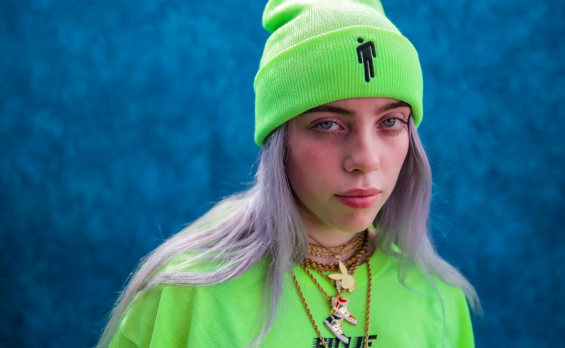 9c9c42984fb2a billie eilish colourful green blohsh beanie