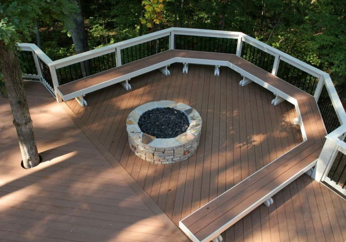 Deck Ideas With Fire Pit N