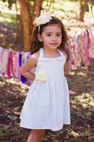 Girls Ivory Dress Flower Girl Vintage Modern Toddler Natural For Toddlers To Teen