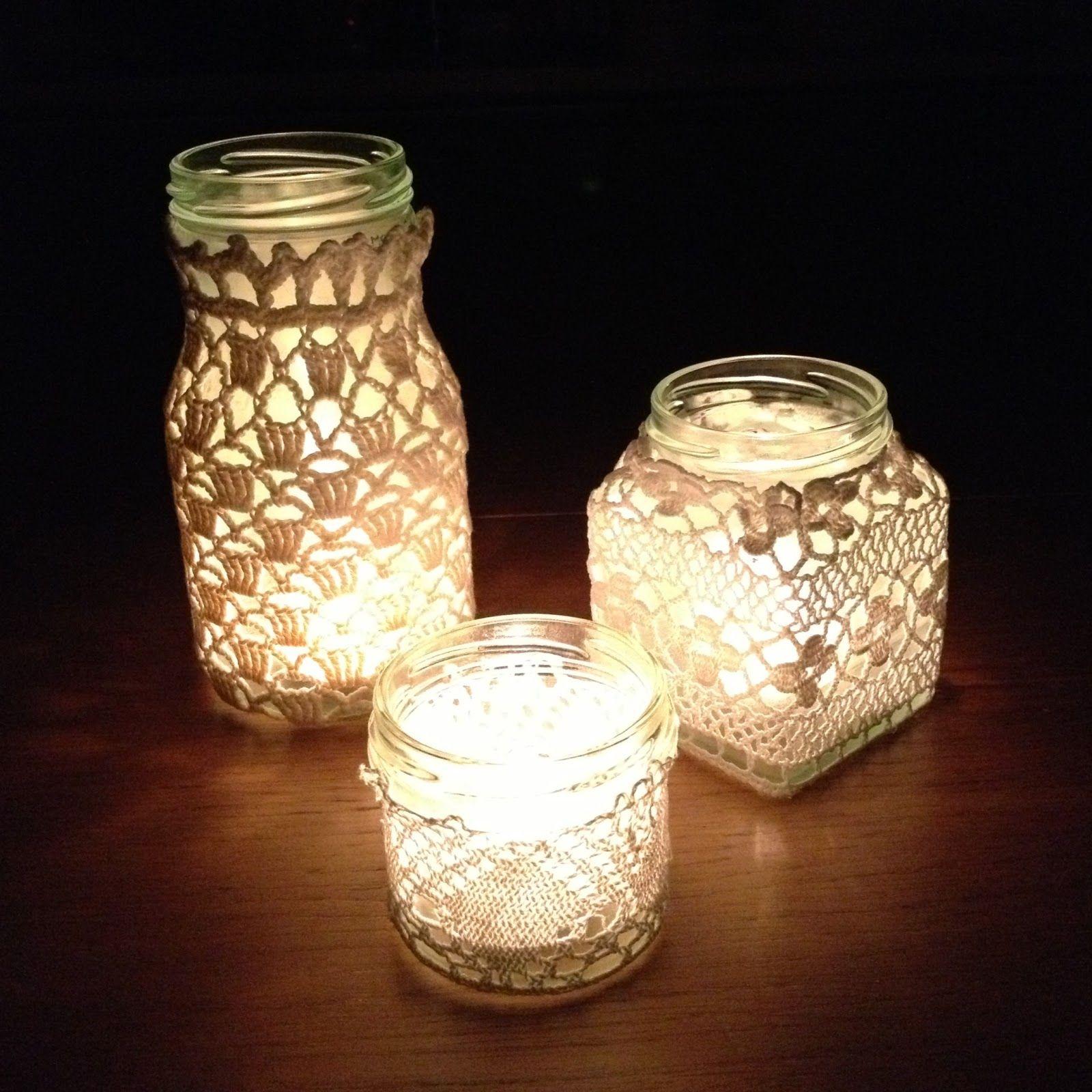 easy to make jam jar lanterns