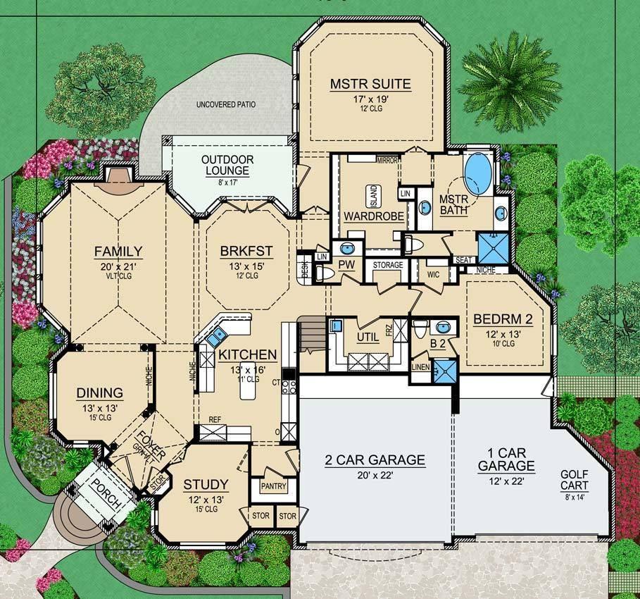 Horseshoe Bay House Plan House Plans European House Texas House Plans