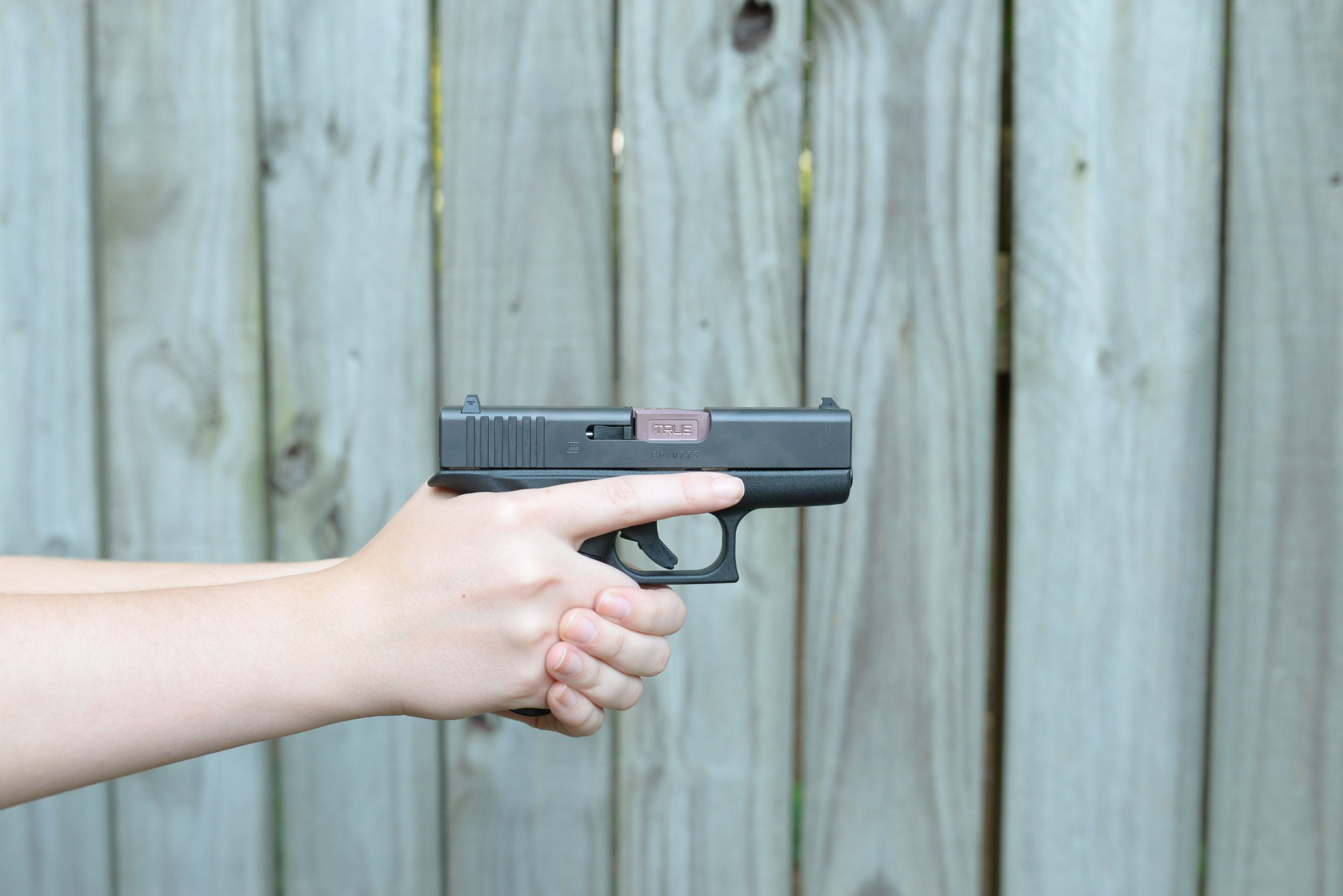 Rose TiCN on this Glock 43  Make your Glock shine with a