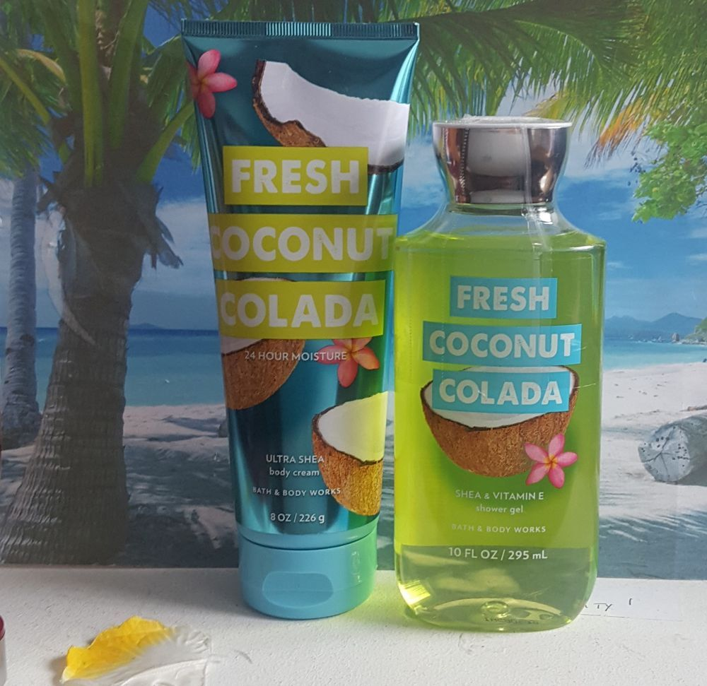 Bath And Body Works Fresh Coconut Colada Shower Gel And Body Cream