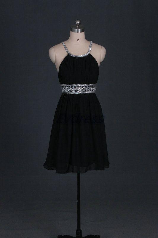 Neueste schwarze chiffon Prom Kleider heiß kurze von Evdress | I ...