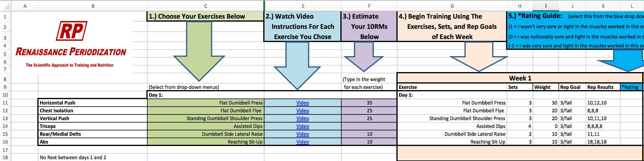 Strength Training My Current Program Workout Template Strength