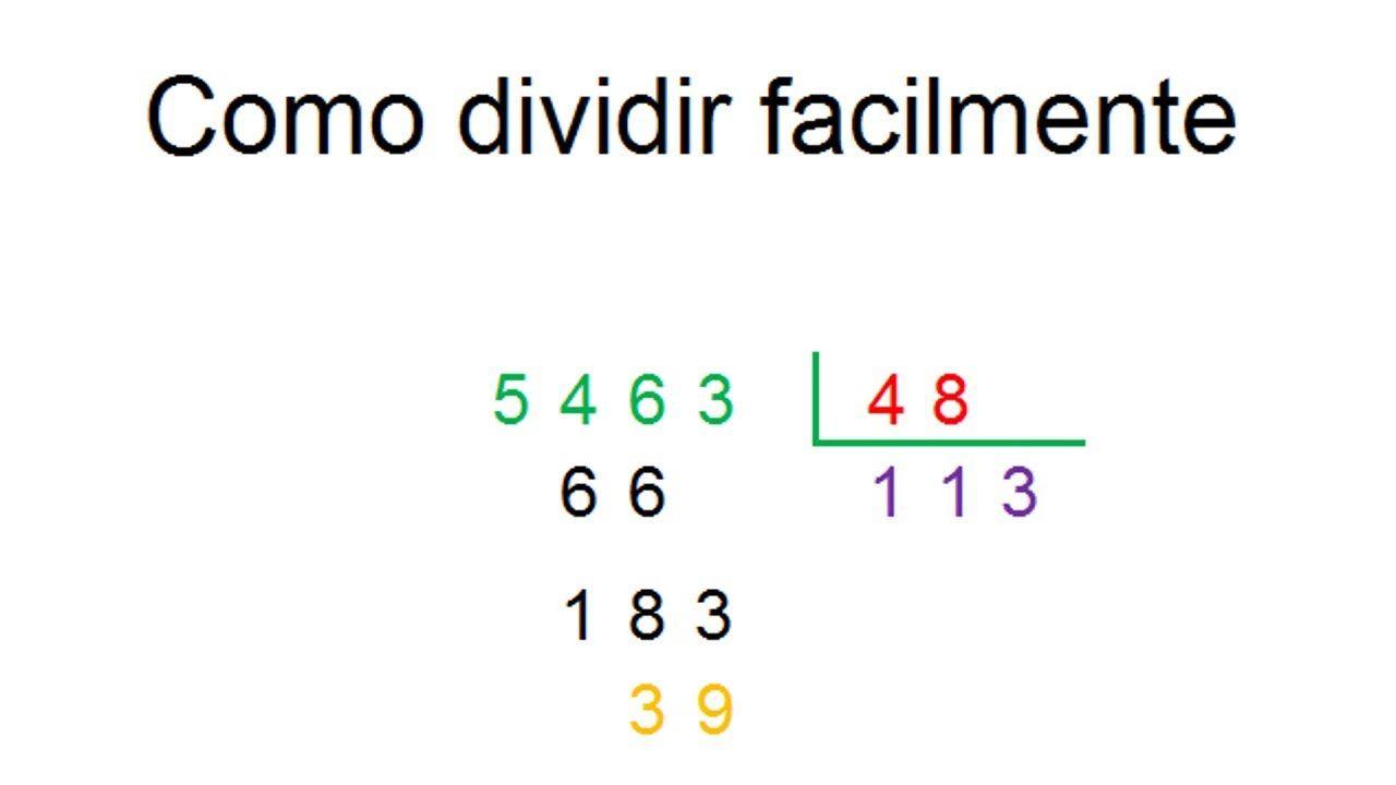 Como Dividir Fácilmente Por Dos O Más Cifras En El Divisior Dividir Matematicas Tercer Grado Divisiones De Dos Cifras