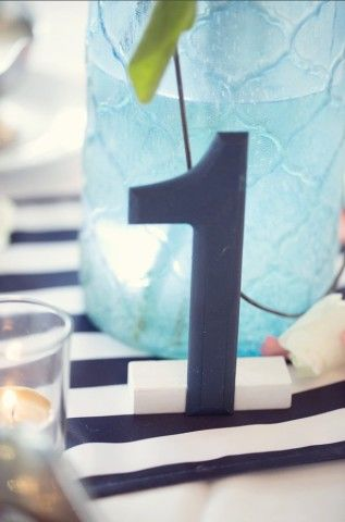 Navy Table Numbers (1-15) | Weddingbee Classifieds