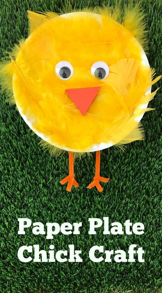 Easy Spring Craft Paper Plate Chick Craft In 2018 Activites 2 Ans