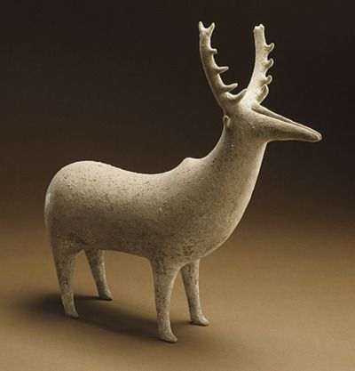 Zoomorphic Vessel (Fallow Deer),1350-1000 B.C.,Northern Iran