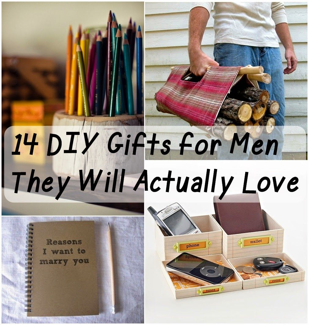14 diy gifts for men they will actually love handmade for Craft projects for guys