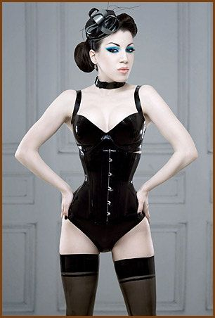 3bdb2419e1 Lady Lucie Latex underbust latex corset (various colours available)