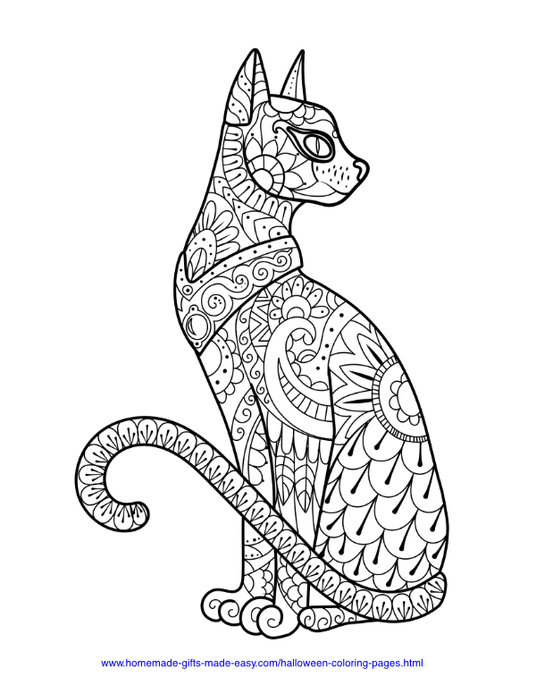 50+ Free Halloween Coloring Pages PDF Printables #halloweencoloringpages
