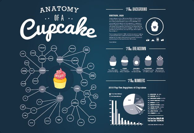 Cupcake Infographic - Horizontal