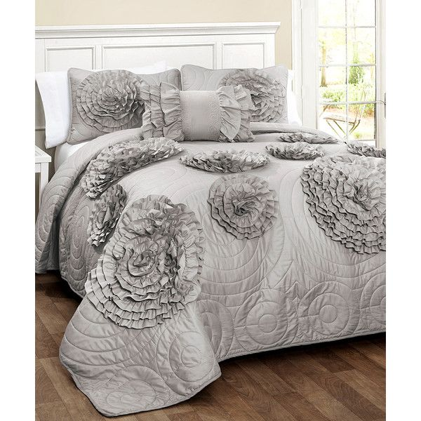 Lush Décor Gray Fiorella Quilt Set 40 Liked On Polyvore Beauteous Lush Decor Special Edition Pillows