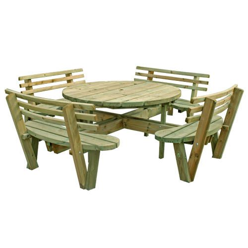 My Ideas Free Large Round Picnic Table Plans Home