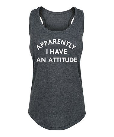 Look at this zulilyfind! Heather Charcoal 'Apparently I