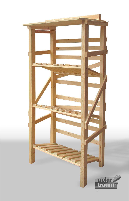 Getränkekisten-Regal aus Fichtenholz – kann in der Größe ...