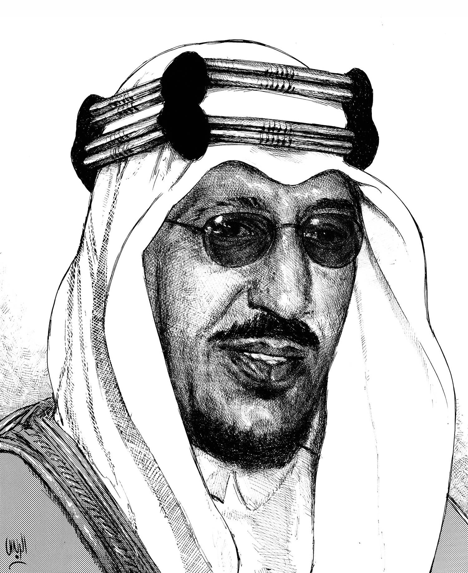 King Saud Rayes Oil Painting Male Sketch Painter