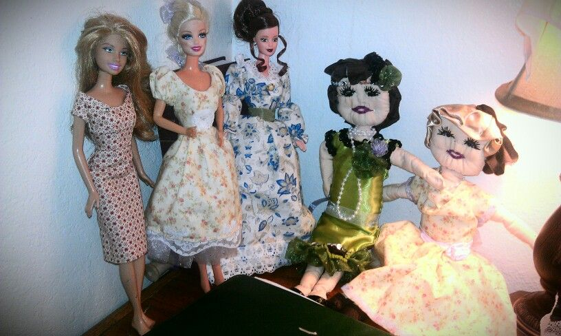 All of the dolls I've created and designed so far...
