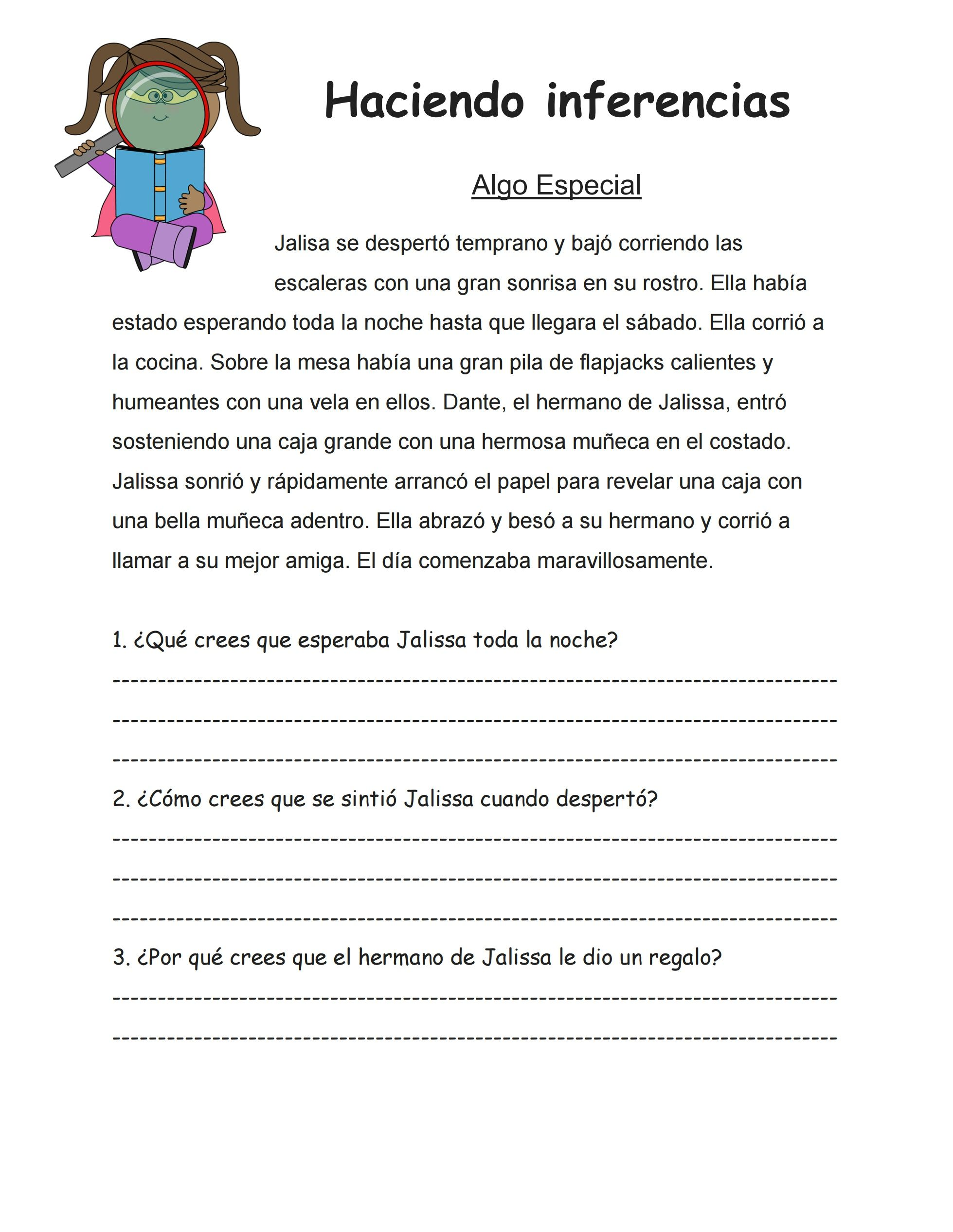 This Is An Inferencing Worksheet I Created To Use With My