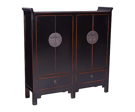 Armario de madera con 4 puertas y 2 cajones