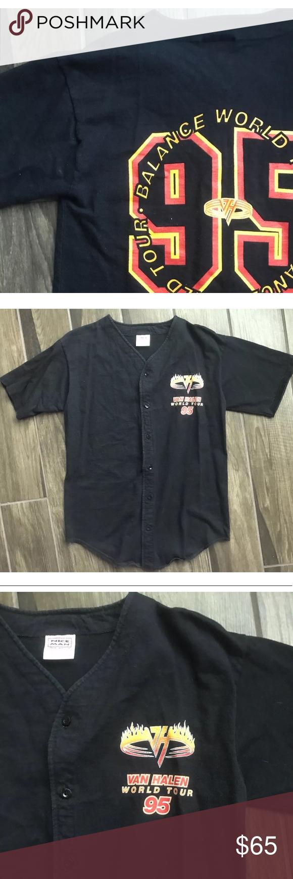 Vtg 1995 Van Halen Balance World Tour Shirt Sz L Clothes Design Branded Shirts Fashion
