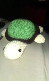 Hop along turtle; crocheted
