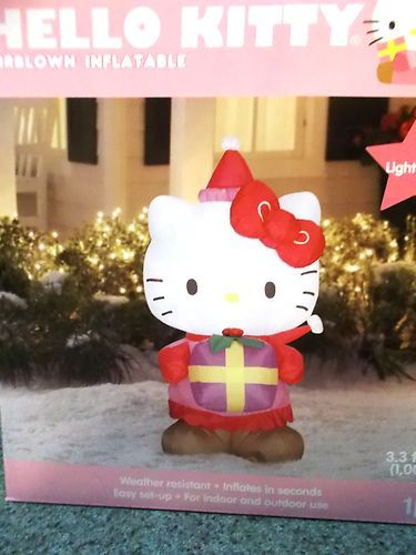 Hello Kitty Airblown Inflatable Christmas Hello kitty obsession - inflatable christmas yard decorations