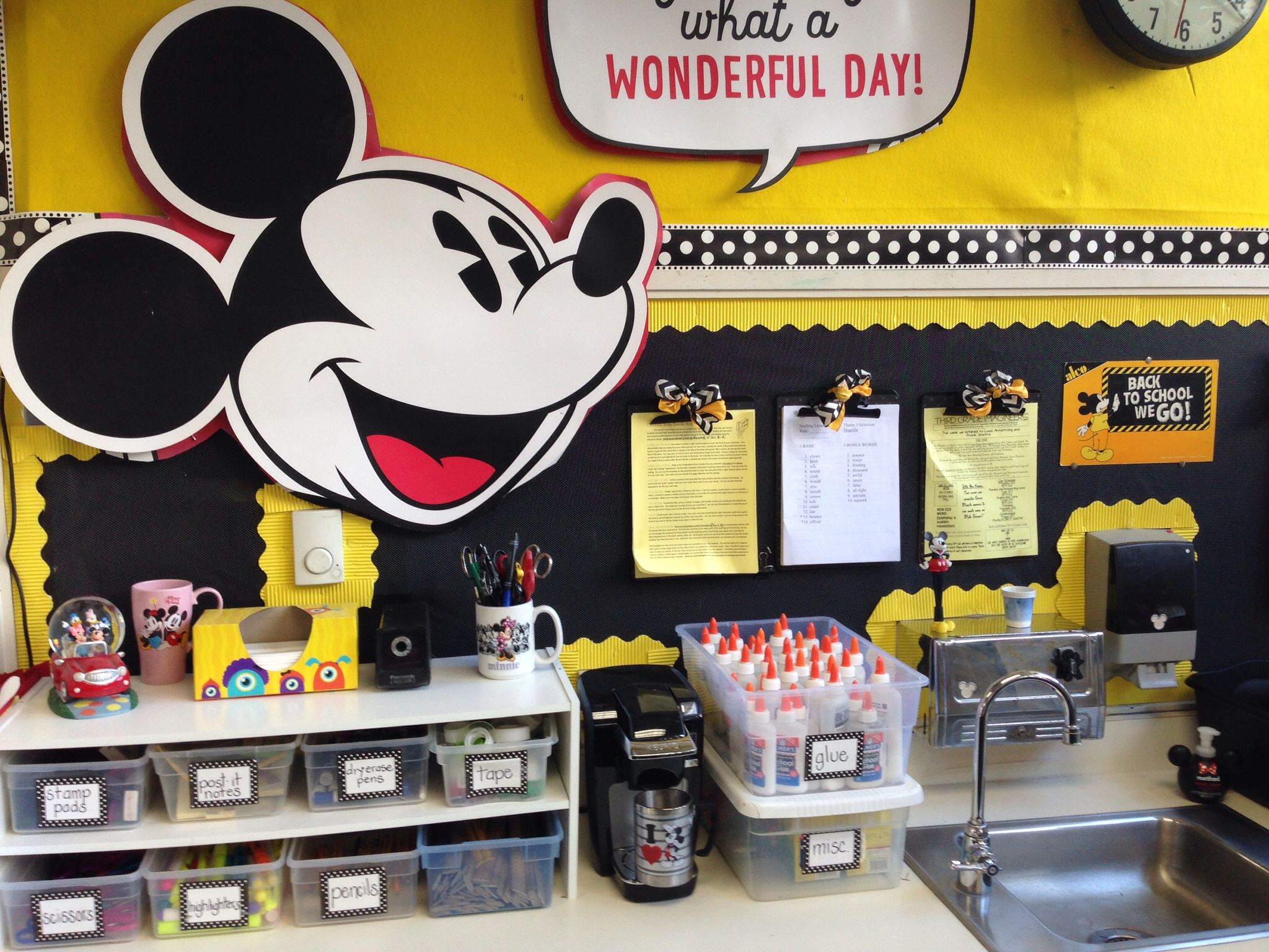 Classroom Decorations Disney : Love large mickey face wonder if i can find it anywhere