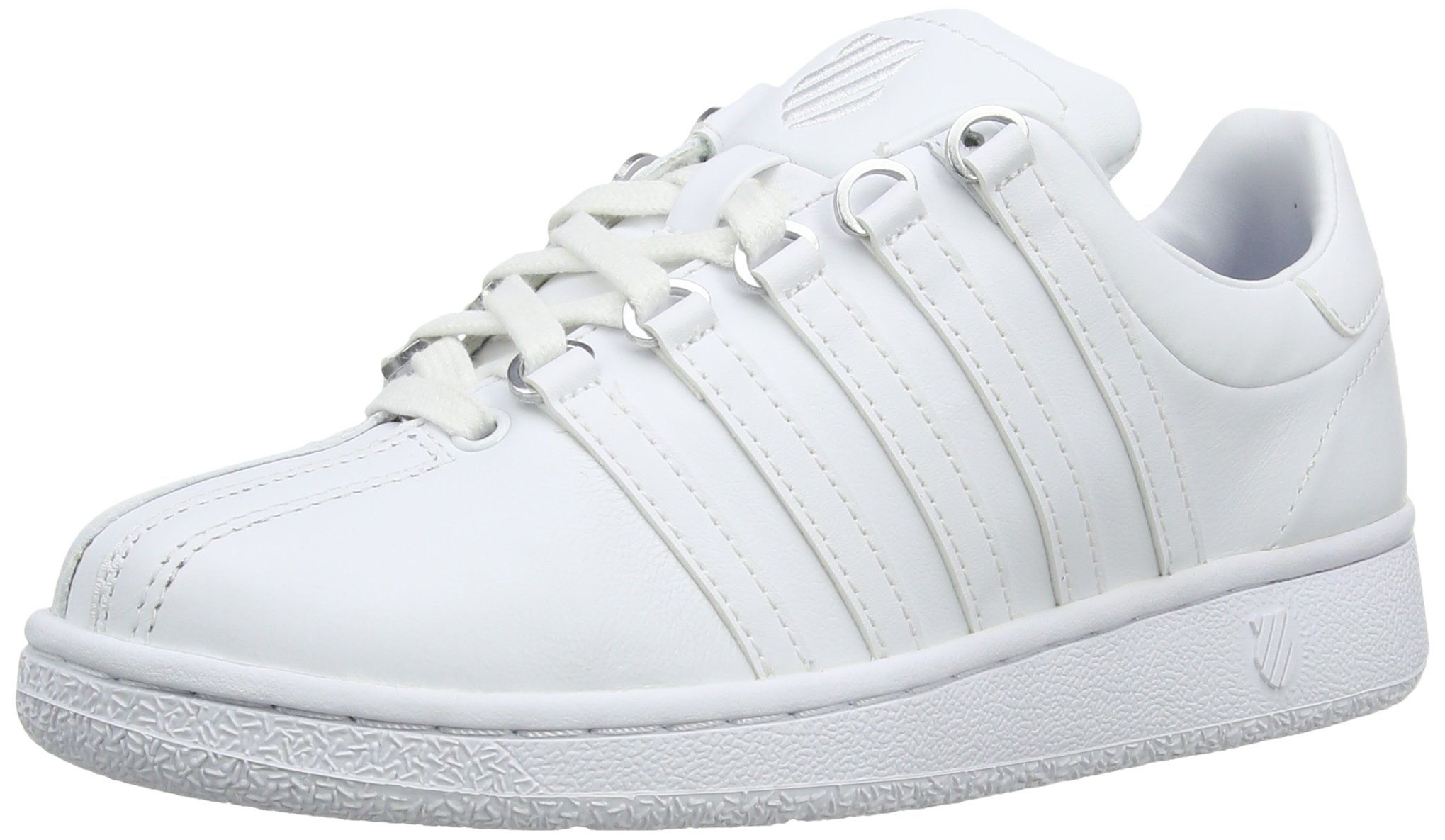 K-Swiss Women's Classic VN Lifestyle Sneaker, White/White, 8.5 M US