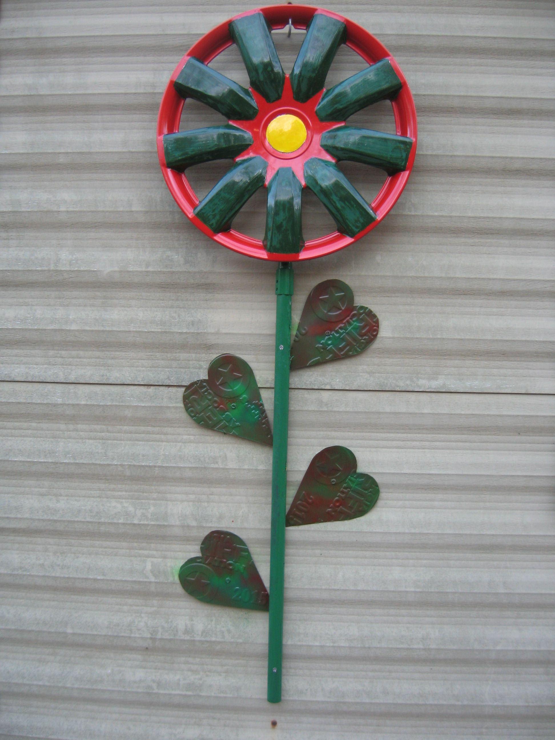 Hubcap Flower with heart leaves