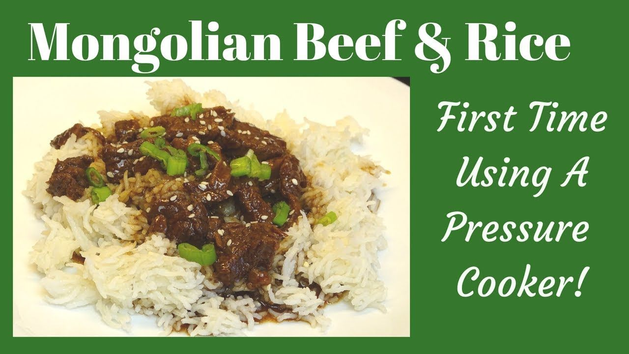 Mongolian Beef And Rice In A Cosori Pressure Cooker First Time