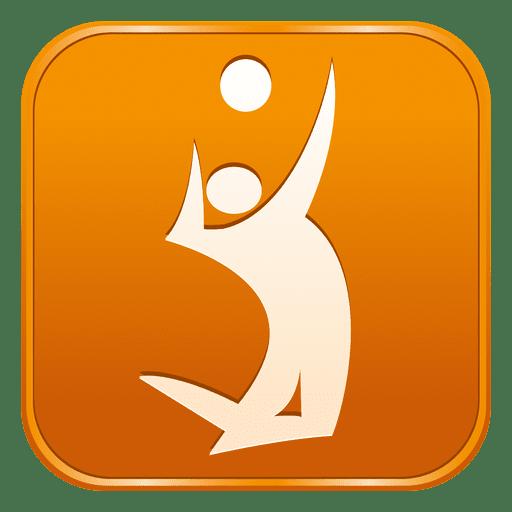 Voleyball Square Icon Ad Ad Aff Icon Square Voleyball Badge Logo Emblem Logo Icon