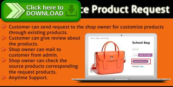 Free Nulled Woocommerce Product Request Plugin Download