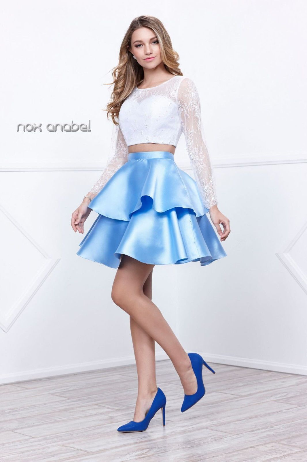 Prom short dress two piece set homecoming cocktail party products