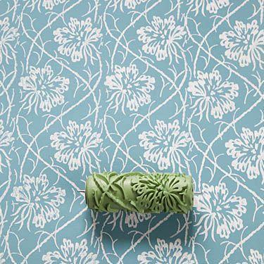 Soft Pattern Roller No 1605 Tendril Leaf Musterwalze Strukturwalze Mit Rankenden Blattern Gemusterte Farbroller Musterwalze Wandgemalde Selbstgemacht