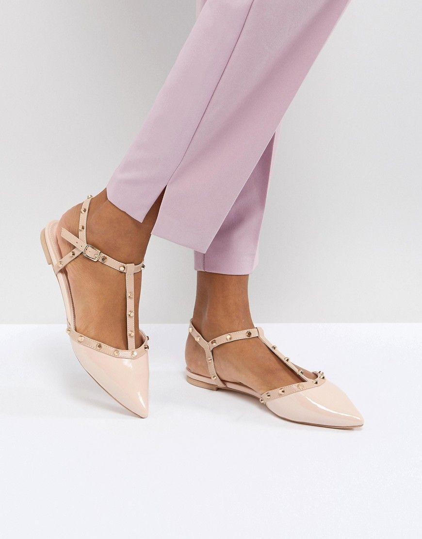 c33862a5f37 DUNE LONDON CAYOTE FLAT STUDDED SHOE - PINK.  dune  shoes     BoatShoesForWomen