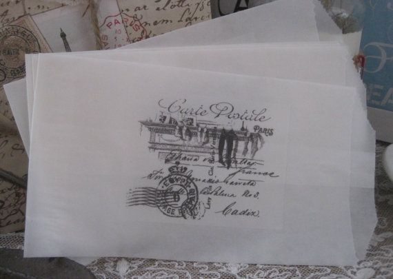 french market carte postale christmas xmas sacks by OkioBDesigns, $4.00