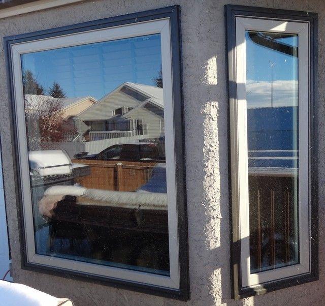 Vinyl Windows Interior White Exterior Two Toned Desert Sand Window Frame Commercial Brown Brickmould Fixed And Casem Door Images Casement Windows Windows