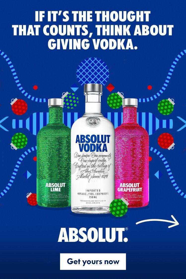 Buy absolut vodka this holiday season at a local retailer kitchen