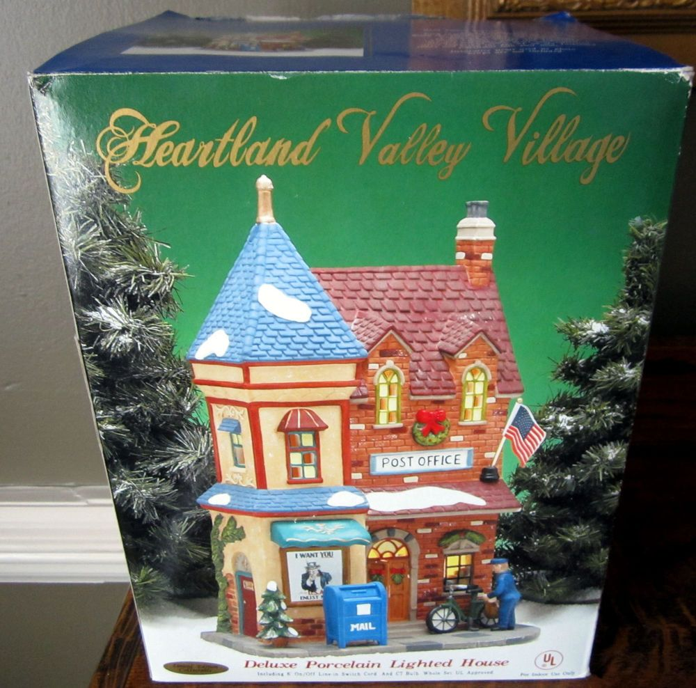 Heartland Valley Village Post Office~Illuminated~Original